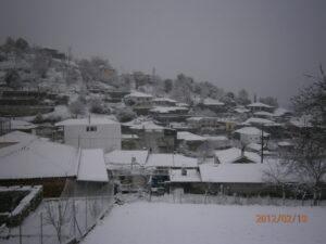 Το χωριό χιονισμένο